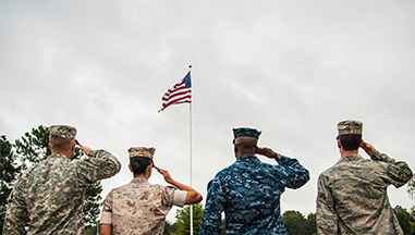 military and flag