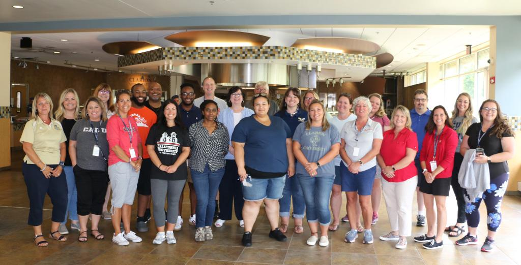 Clarion University admissions team visits other integrating schools