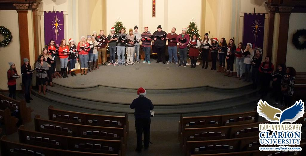 Clarion University Chamber singers perform Mary Did You Know