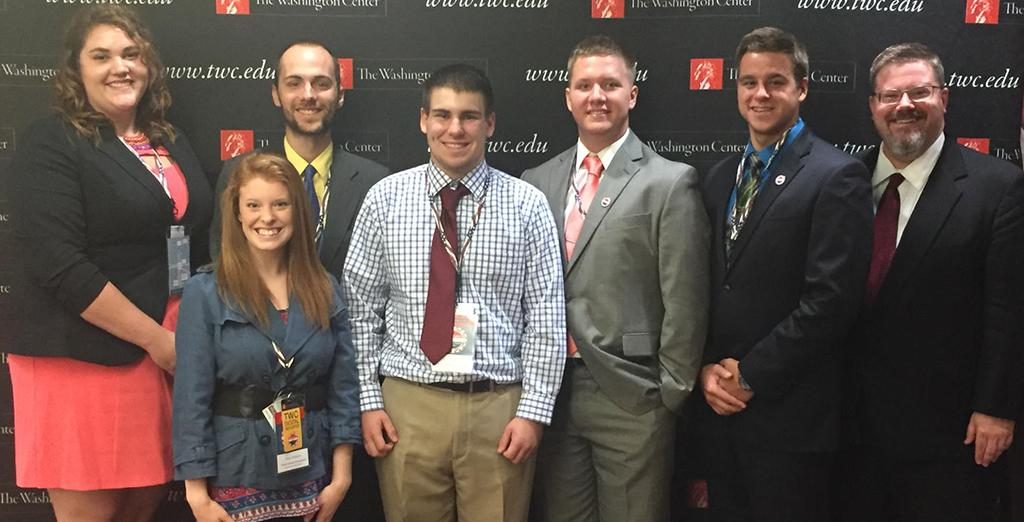 Clarion students attend the RNC