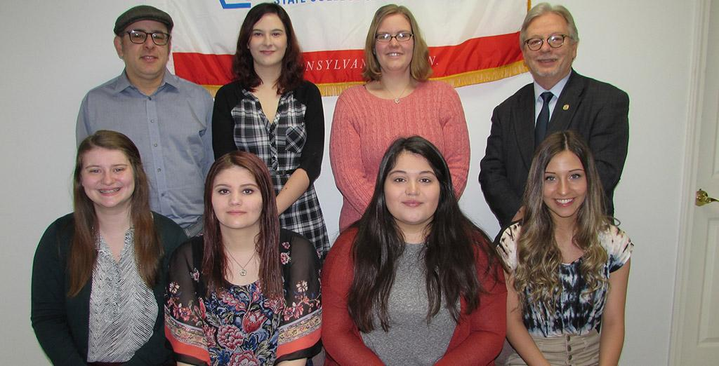 APSCUF presents Scholarships to students