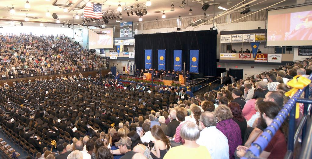 Clarion University's spring commencement.