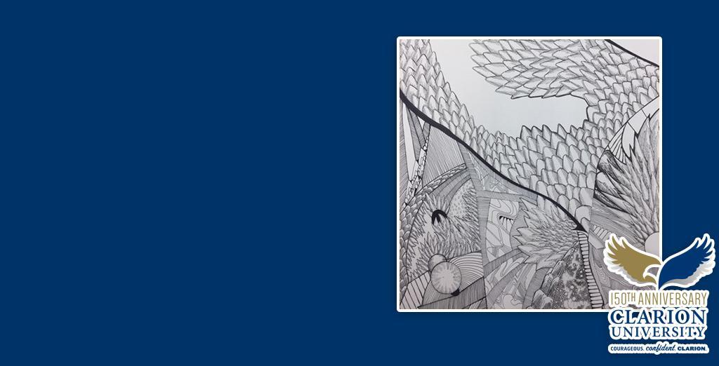 Clarion University student showcases artwork