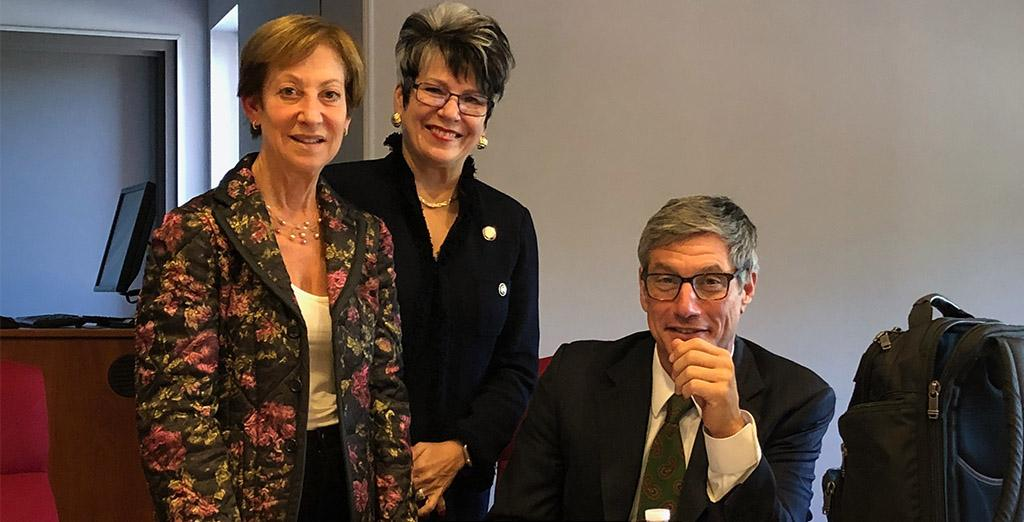 Clarion University thanks Chancellor Greenstein for his visit to campus.