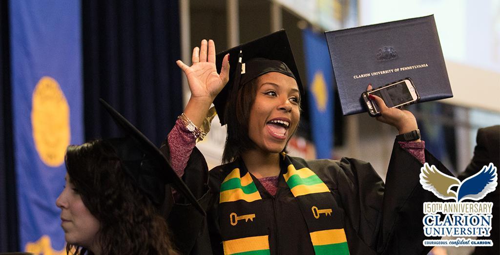 Clarion University students graduate