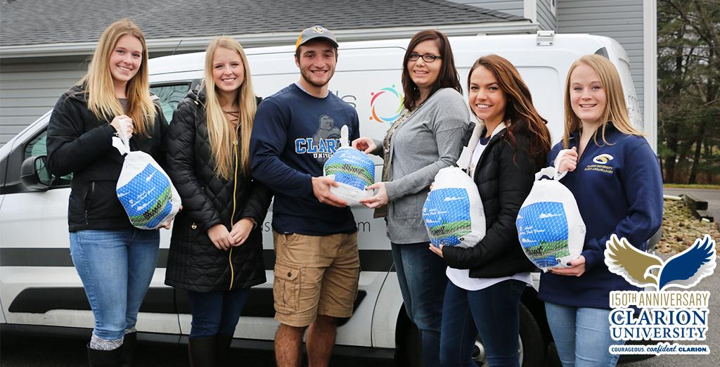 Clarion University students purchase turkeys for local families