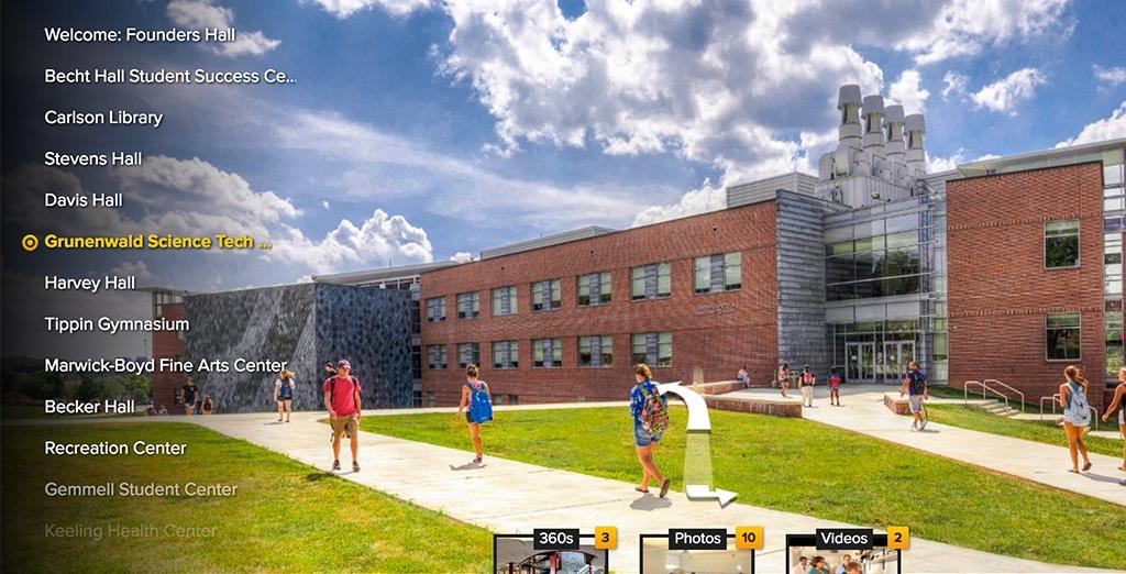 Take Clarion University's virtual tour
