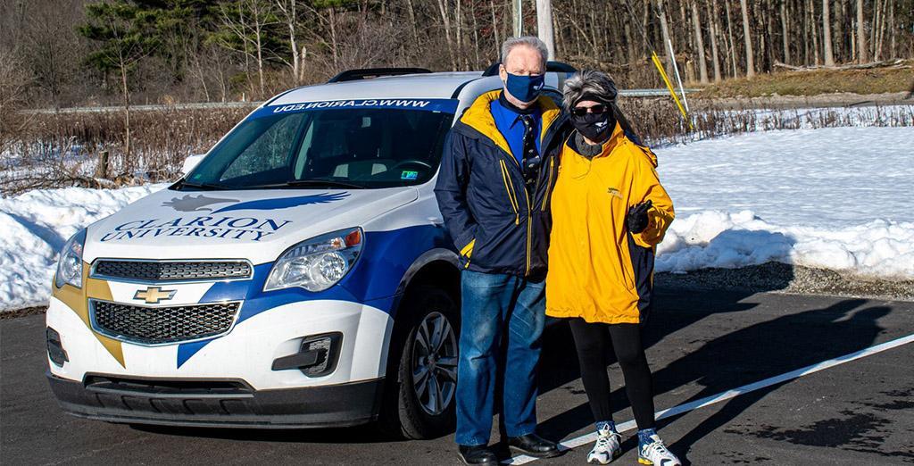 Clarion University President donates car to university