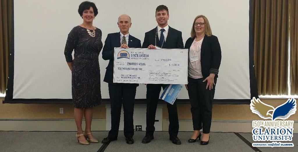 Clarion University congratulates Logan on his success