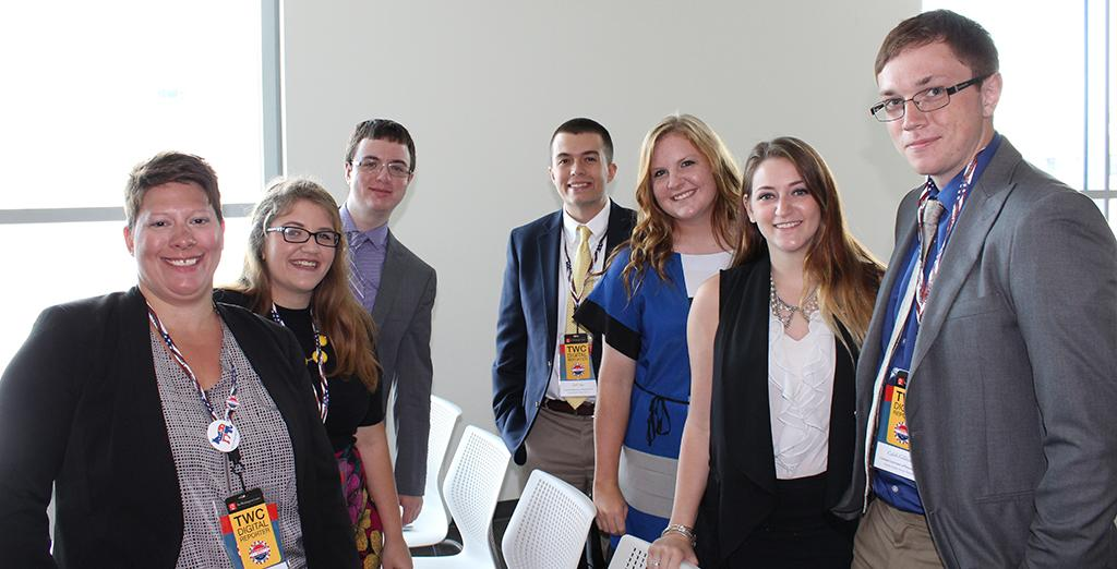 Clarion students attend the DNC