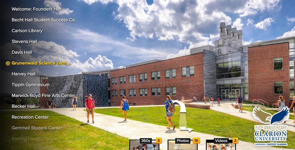 Visit Clarion University from home with our virtual tour