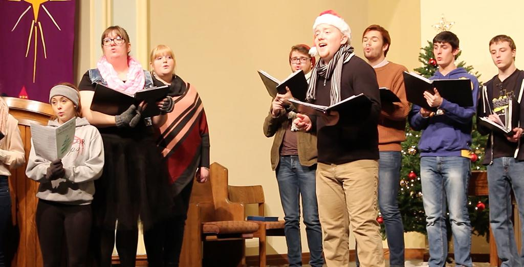 Clarion University Chamber singers usher in the holiday season with this beautiful performance