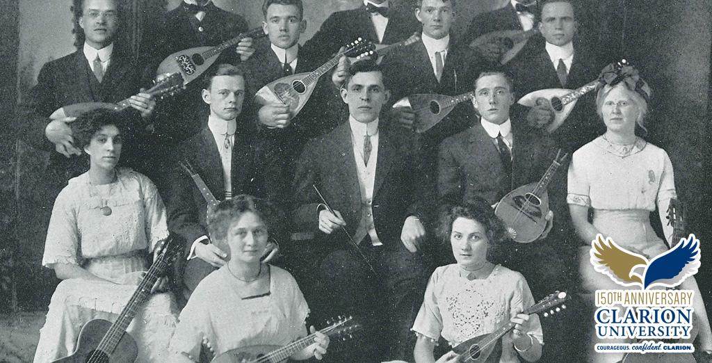 The Mandolin Club photo from the 1912 Sequelle year book