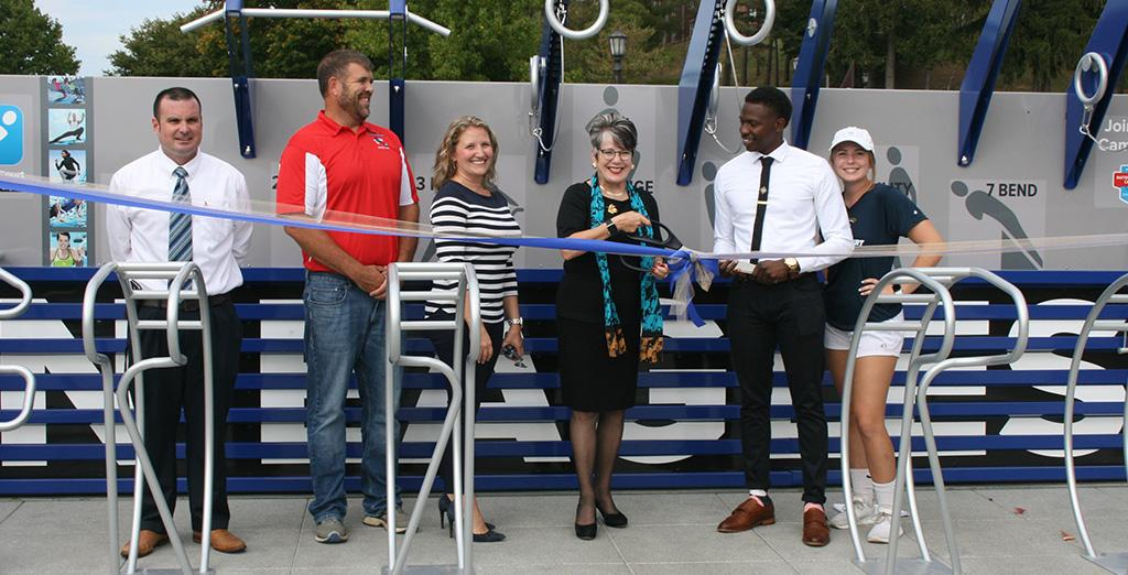 Clarion Univeristy opens fitness court