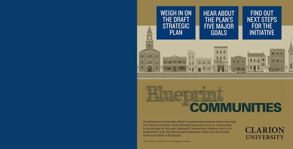 Clarion's Blueprint Communities group is hosting a Town Hall meeting.