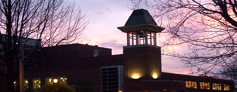 Clarion Bell Tower At Night