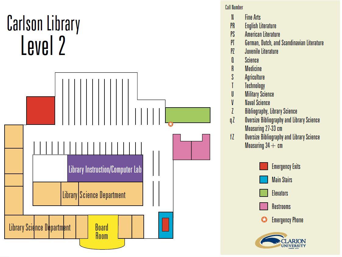 Carlson Building Map