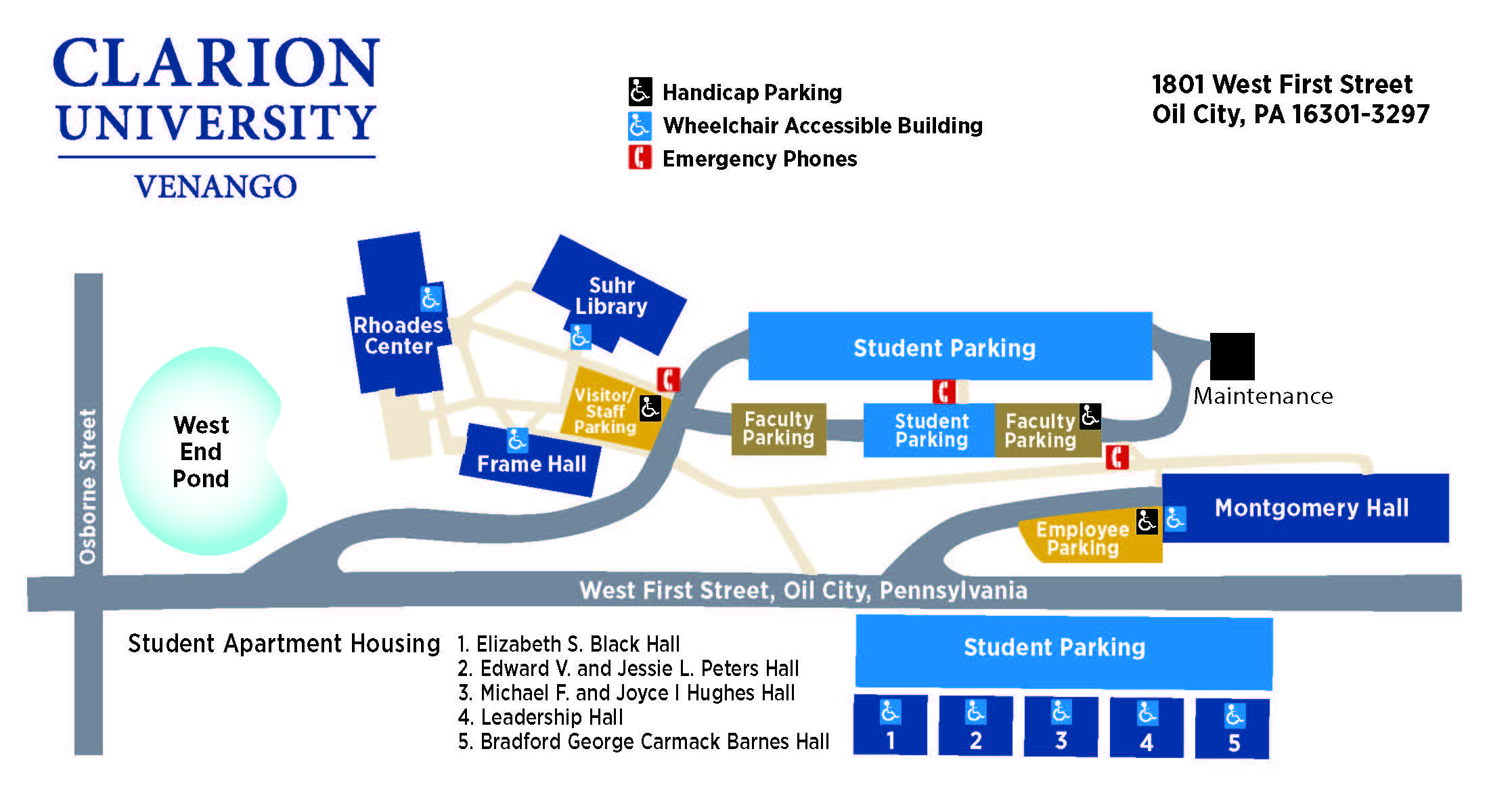 Venango campus map