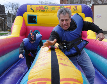inflatable fun with the Provost